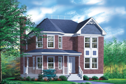 Victorian Style House Plan - 4 Beds 2.5 Baths 2279 Sq/Ft Plan #25-2037 Exterior - Front Elevation