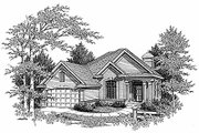 Traditional Style House Plan - 4 Beds 2.5 Baths 2173 Sq/Ft Plan #70-314 Exterior - Front Elevation