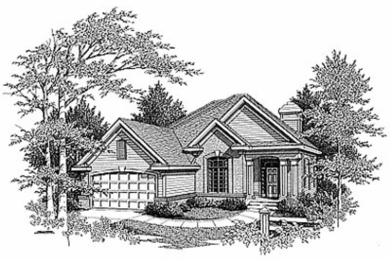 Traditional Exterior - Front Elevation Plan #70-314