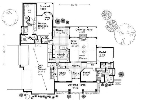 European Floor Plan - Main Floor Plan Plan #310-959