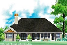 Home Plan - Country Exterior - Rear Elevation Plan #930-184