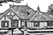 European Style House Plan - 3 Beds 2.5 Baths 2260 Sq/Ft Plan #310-246 Exterior - Front Elevation