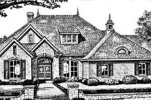European Exterior - Front Elevation Plan #310-246