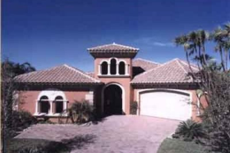 Mediterranean Style House Plan - 3 Beds 3.5 Baths 2667 Sq/Ft Plan #115-103 Exterior - Front Elevation