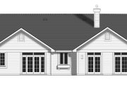 Craftsman Style House Plan - 3 Beds 2 Baths 1550 Sq/Ft Plan #427-5 Exterior - Rear Elevation