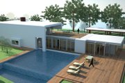Modern Style House Plan - 3 Beds 2 Baths 3160 Sq/Ft Plan #473-1 Exterior - Outdoor Living