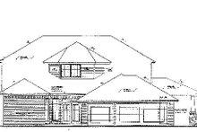 Colonial Exterior - Rear Elevation Plan #310-703