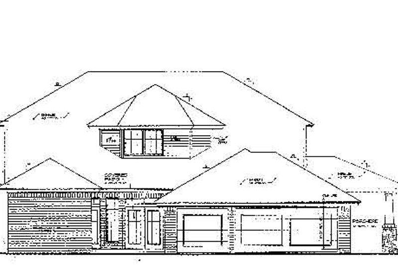 Colonial Exterior - Rear Elevation Plan #310-703 - Houseplans.com