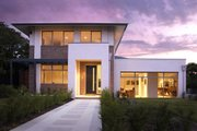 Modern Style House Plan - 4 Beds 2.5 Baths 4205 Sq/Ft Plan #496-2 Exterior - Front Elevation