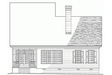 Southern Exterior - Rear Elevation Plan #137-189