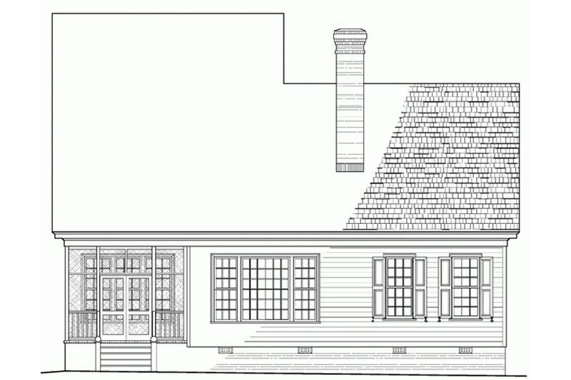 Southern Exterior - Rear Elevation Plan #137-189 - Houseplans.com