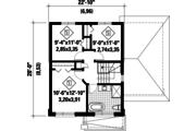 Contemporary Style House Plan - 3 Beds 1 Baths 1236 Sq/Ft Plan #25-4731 Floor Plan - Upper Floor Plan