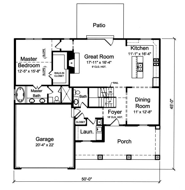 European Floor Plan - Main Floor Plan Plan #46-889