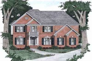 Traditional Exterior - Front Elevation Plan #129-134