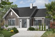 Craftsman Style House Plan - 2 Beds 1 Baths 1207 Sq/Ft Plan #23-2414 Exterior - Front Elevation