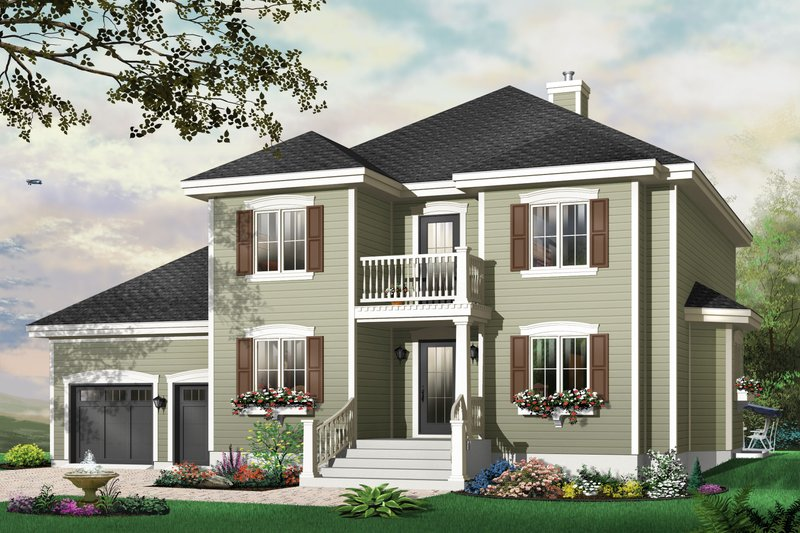 Traditional Exterior - Front Elevation Plan #23-809 - Houseplans.com