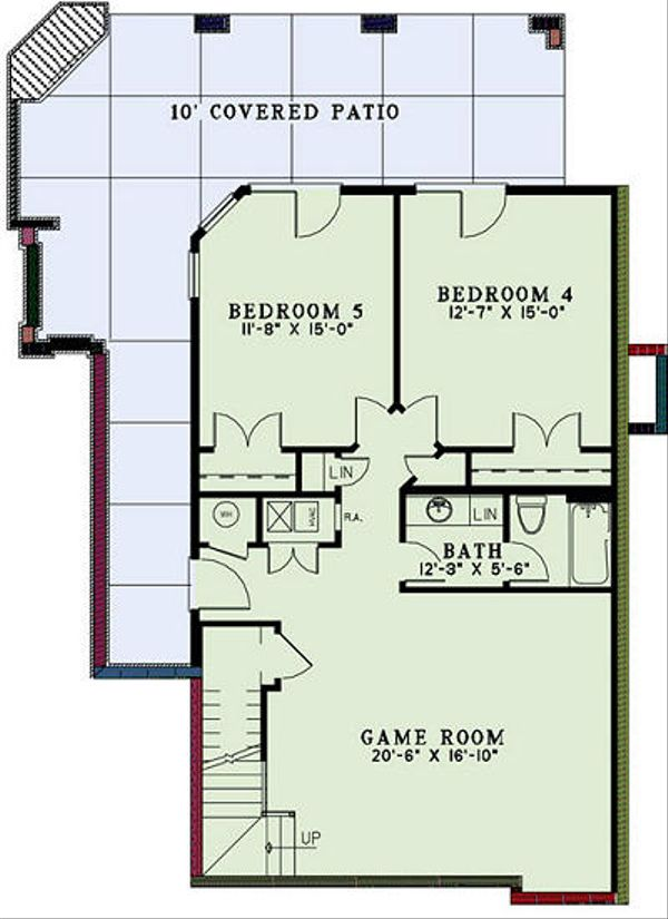 Country Floor Plan - Lower Floor Plan Plan #17-2452