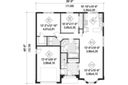 European Style House Plan - 2 Beds 1 Baths 1185 Sq/Ft Plan #25-4596 Floor Plan - Main Floor Plan