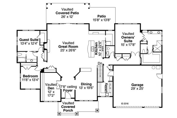 Craftsman Floor Plan - Main Floor Plan Plan #124-1024