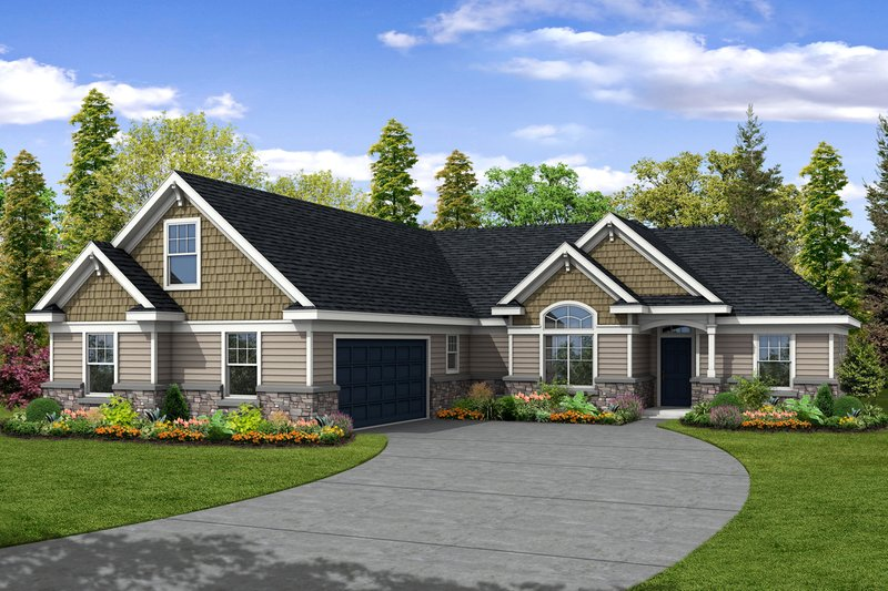 Traditional Exterior - Front Elevation Plan #124-378 - Houseplans.com