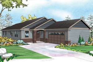 Ranch Exterior - Front Elevation Plan #124-976