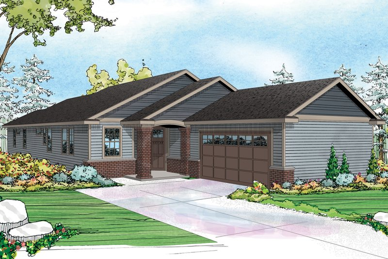 Dream House Plan - Ranch Exterior - Front Elevation Plan #124-976