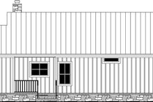 Home Plan - Country Exterior - Rear Elevation Plan #21-465