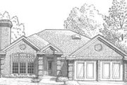 European Style House Plan - 3 Beds 2 Baths 1582 Sq/Ft Plan #310-289 Exterior - Front Elevation