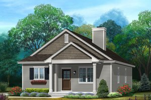 Ranch Exterior - Front Elevation Plan #22-615