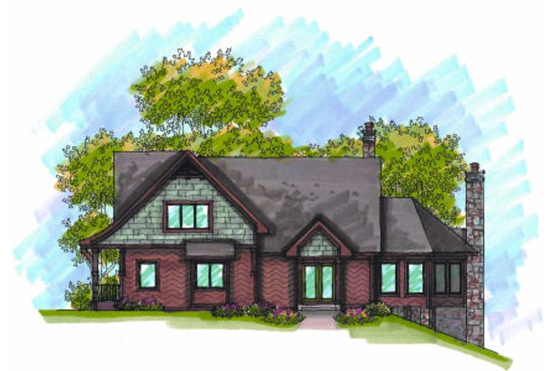 Craftsman Exterior - Front Elevation Plan #70-970