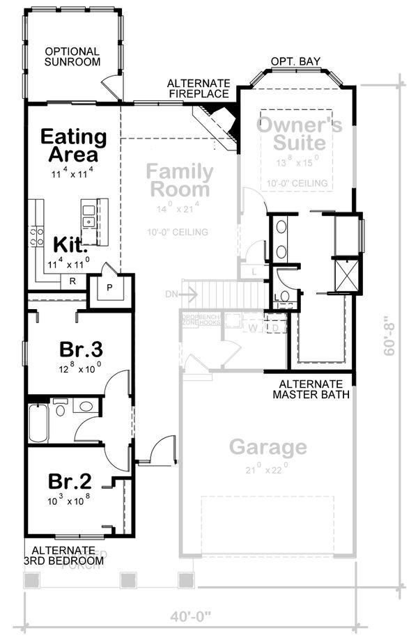 Craftsman Floor Plan - Other Floor Plan #20-2390
