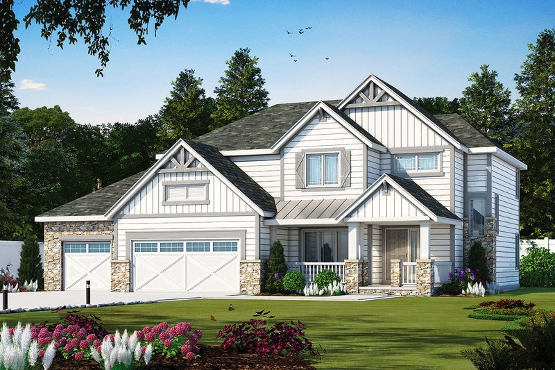 Craftsman Exterior - Front Elevation Plan #20-2328