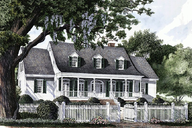 Country Exterior - Front Elevation Plan #137-143