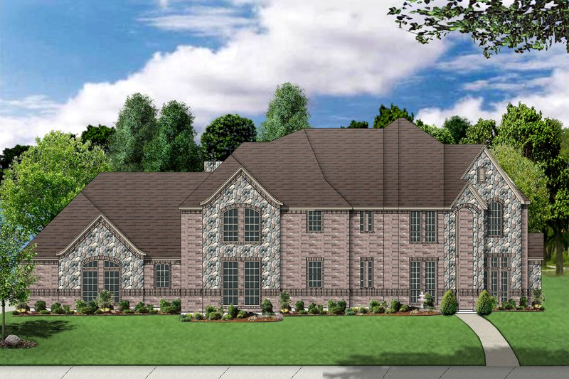 Dream House Plan - European Exterior - Front Elevation Plan #84-429