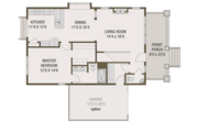 Craftsman Style House Plan - 4 Beds 2.5 Baths 2092 Sq/Ft Plan #461-69 Floor Plan - Main Floor Plan