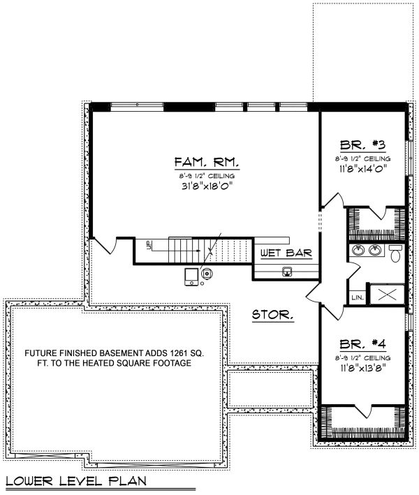 Architectural House Design - Optional Basement