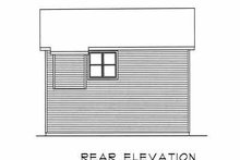 Home Plan - Traditional Exterior - Rear Elevation Plan #22-401