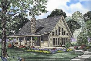 Log house, front elevation