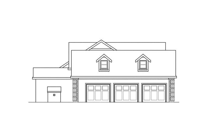 Traditional Exterior - Other Elevation Plan #124-320 - Houseplans.com