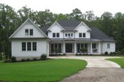 Country Style House Plan - 5 Beds 5.5 Baths 4910 Sq/Ft Plan #1054-95 Exterior - Front Elevation