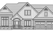 Craftsman Style House Plan - 3 Beds 2.5 Baths 1906 Sq/Ft Plan #46-898 Exterior - Front Elevation