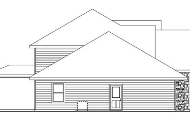 Traditional Exterior - Other Elevation Plan #124-743 - Houseplans.com