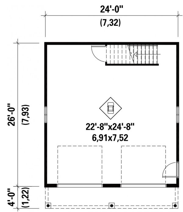 Traditional Floor Plan - Main Floor Plan Plan #25-4872