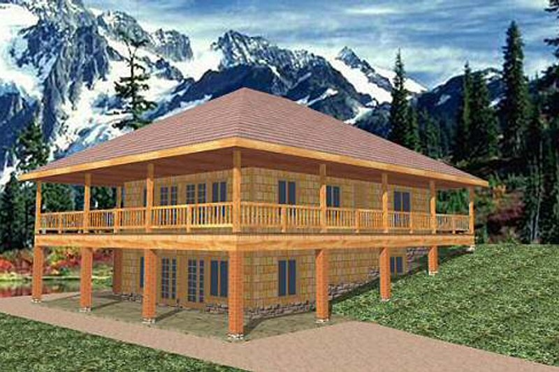 Dream House Plan - Traditional Exterior - Front Elevation Plan #117-245