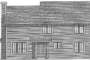 Traditional Style House Plan - 4 Beds 2.5 Baths 1942 Sq/Ft Plan #70-251 Exterior - Rear Elevation