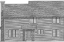 House Design - Traditional Exterior - Rear Elevation Plan #70-251