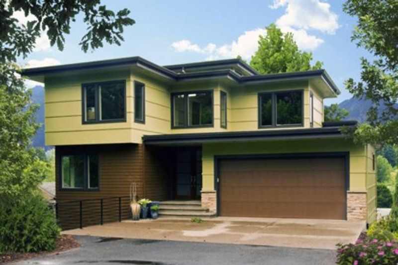 Modern Exterior - Front Elevation Plan #48-534