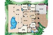 Mediterranean Style House Plan - 3 Beds 3 Baths 2536 Sq/Ft Plan #27-307 Floor Plan - Main Floor Plan