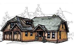 Craftsman Exterior - Front Elevation Plan #921-9
