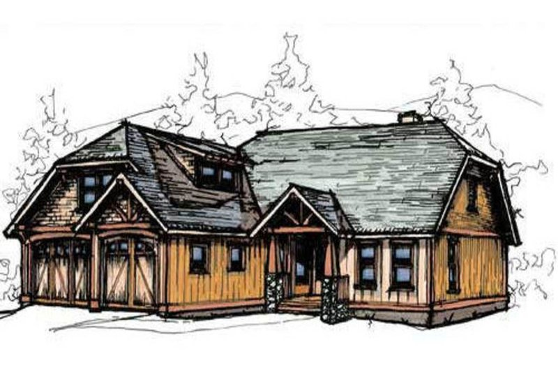 Craftsman Style House Plan - 3 Beds 2.5 Baths 2072 Sq/Ft Plan #921-9